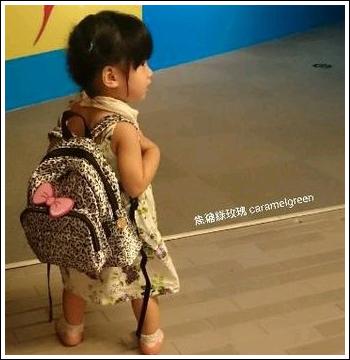 媽咪小孩揹不累-Jumi*大後背空氣包+北鼻防走失包(冰雪豹紋)